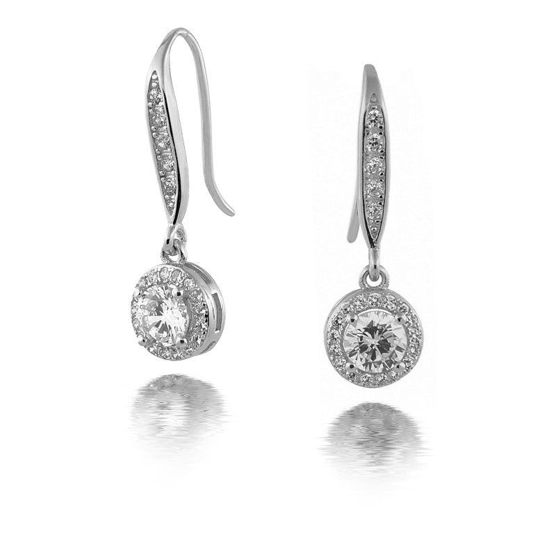 Sterling Silver Cubic Zirconia Drops