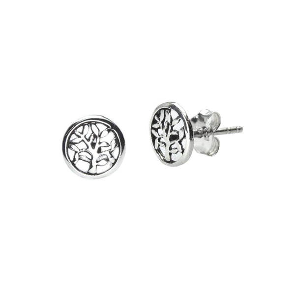 Sterling Silver Tiny Tree of Life Studs