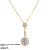 Sterling Silver Rose Gold CZ Triple Circle Necklace