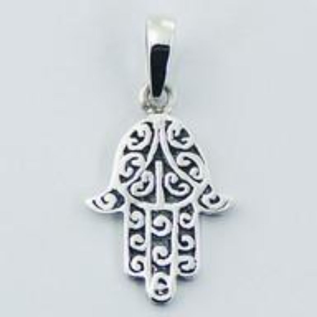 Sterling Silver Hand of Fatima Necklace