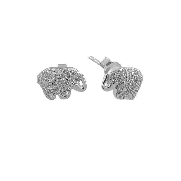 Sterling Silver Elephants Studs