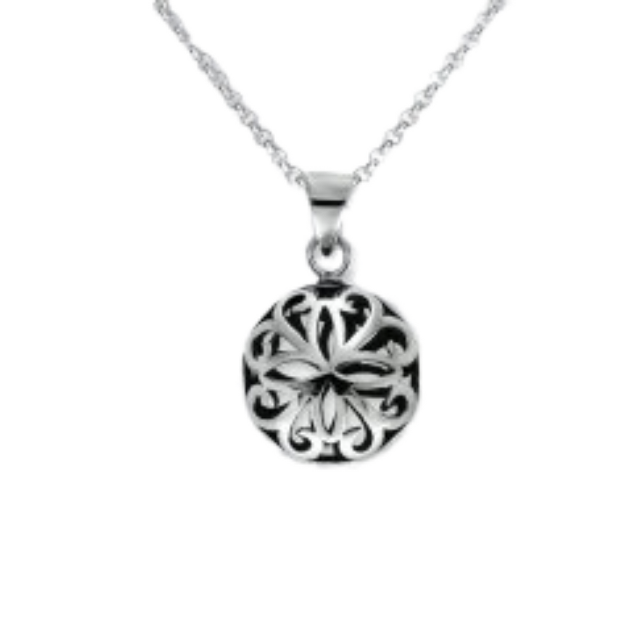 Sterling Silver 3D Filigree Pendant