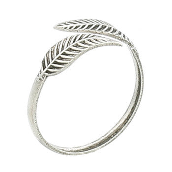 Sterling Silver Leaves Toe Ring