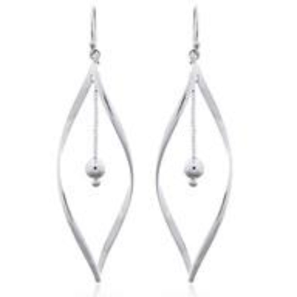 Sterling Silver Marquise Drops with Sphere Drops