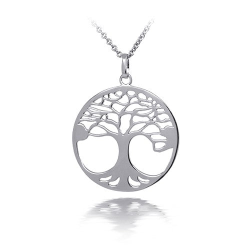 Sterling Silver New Tree of Life Necklace