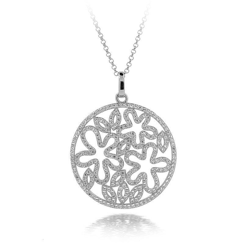 Sterling Silver Circle Openwork Necklace