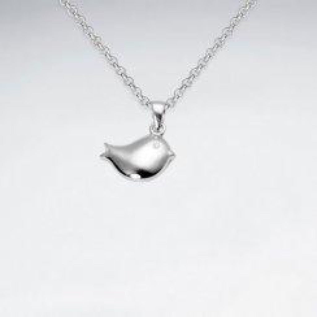 Sterling Silver Petite Bird Necklace