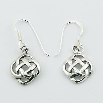 Sterling Silver Round Celtic Knot Drops