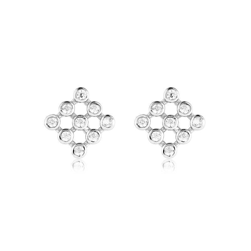 Sterling Silver Cubic Zirconia Diamond Studs