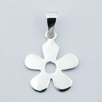 Sterling Silver Single Flower Necklace