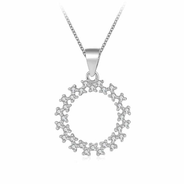 Sterling Silver Circle Necklace with hollow middle