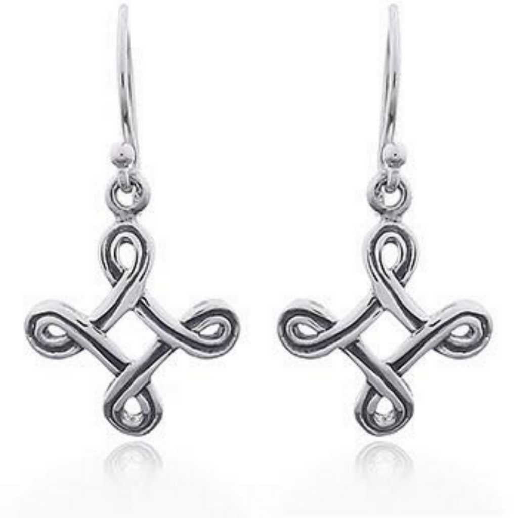 Exquisite french hook earrings in celtic cross design.