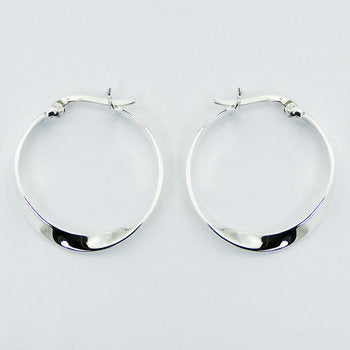 Sterling Silver Twisted Hoops