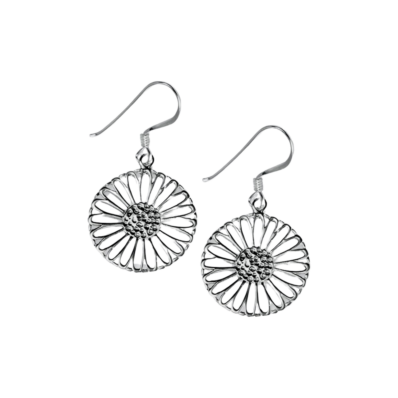 Sterling Silver Filigree Flower Drops