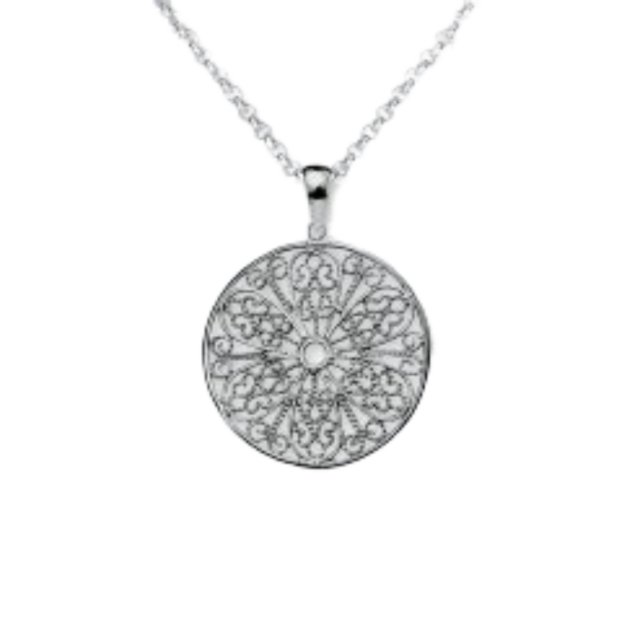 Sterling Silver Filigree Circe Necklace
