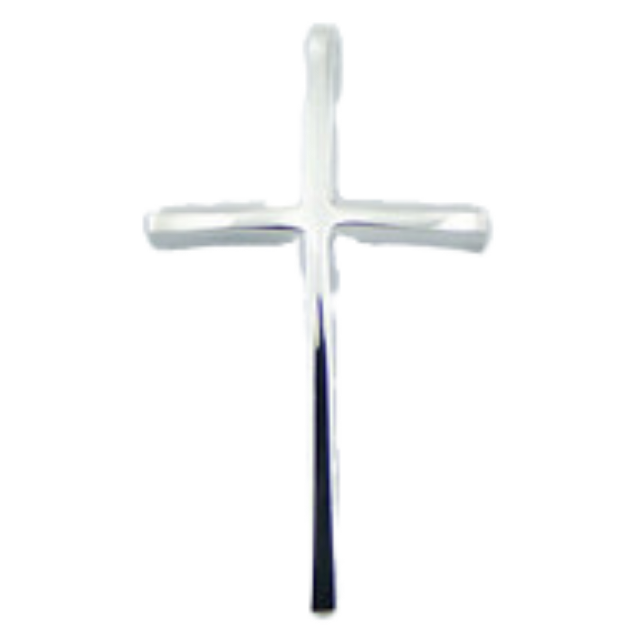 Sterling Silver Slender Cross Necklace