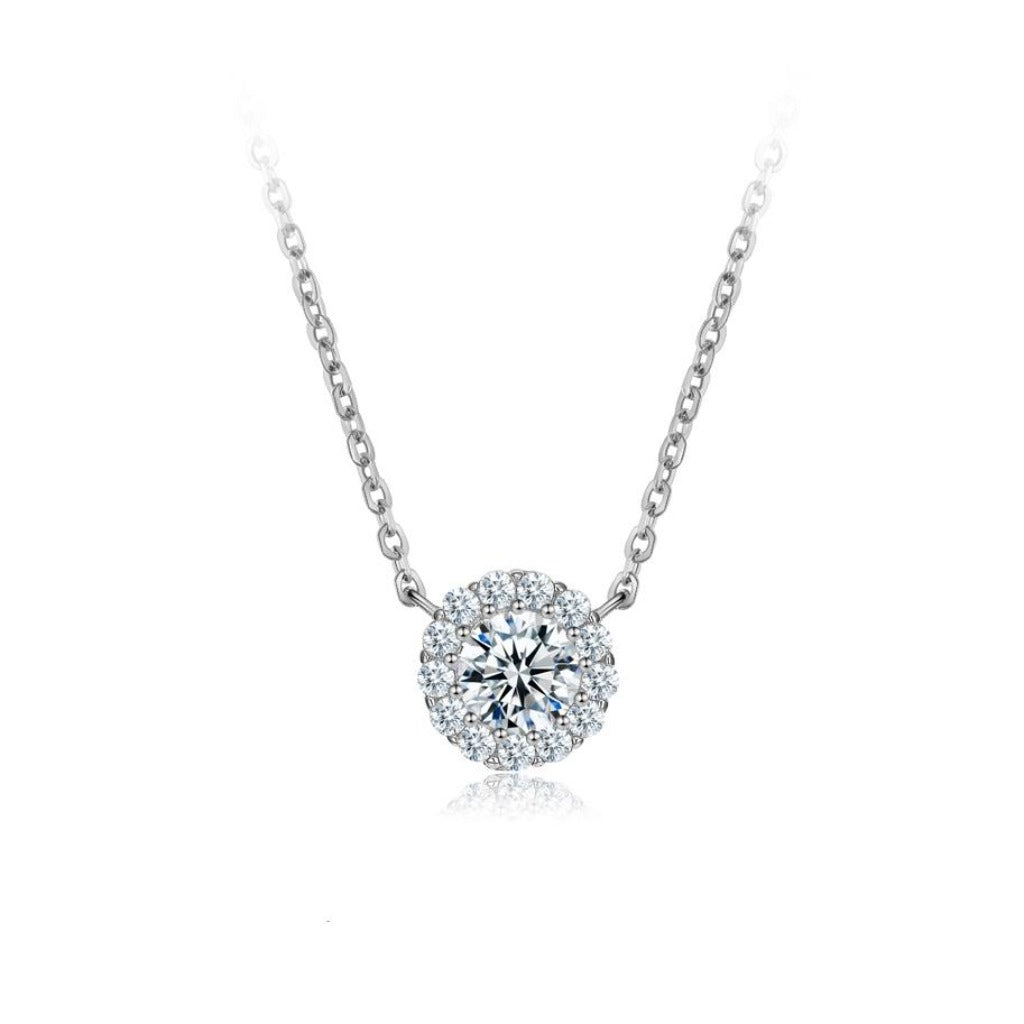 Sterling Silver Sparkle Halo Necklace