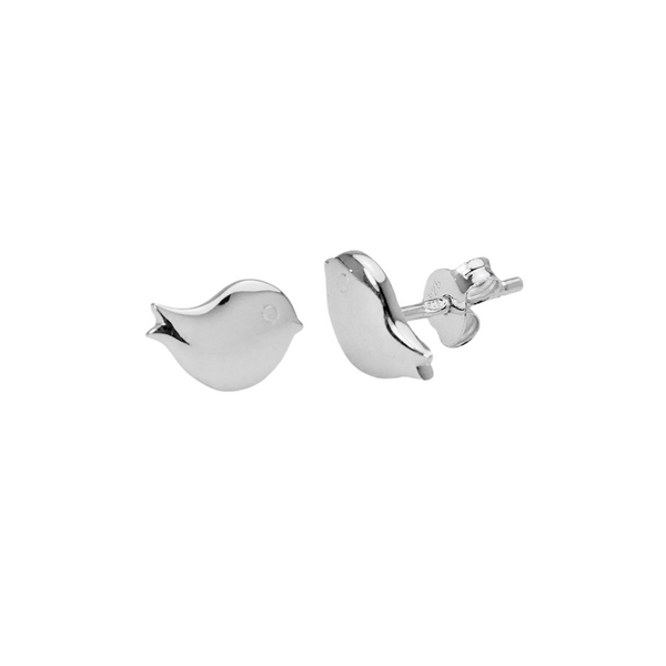 Sterling Silver Petite Bird Studs