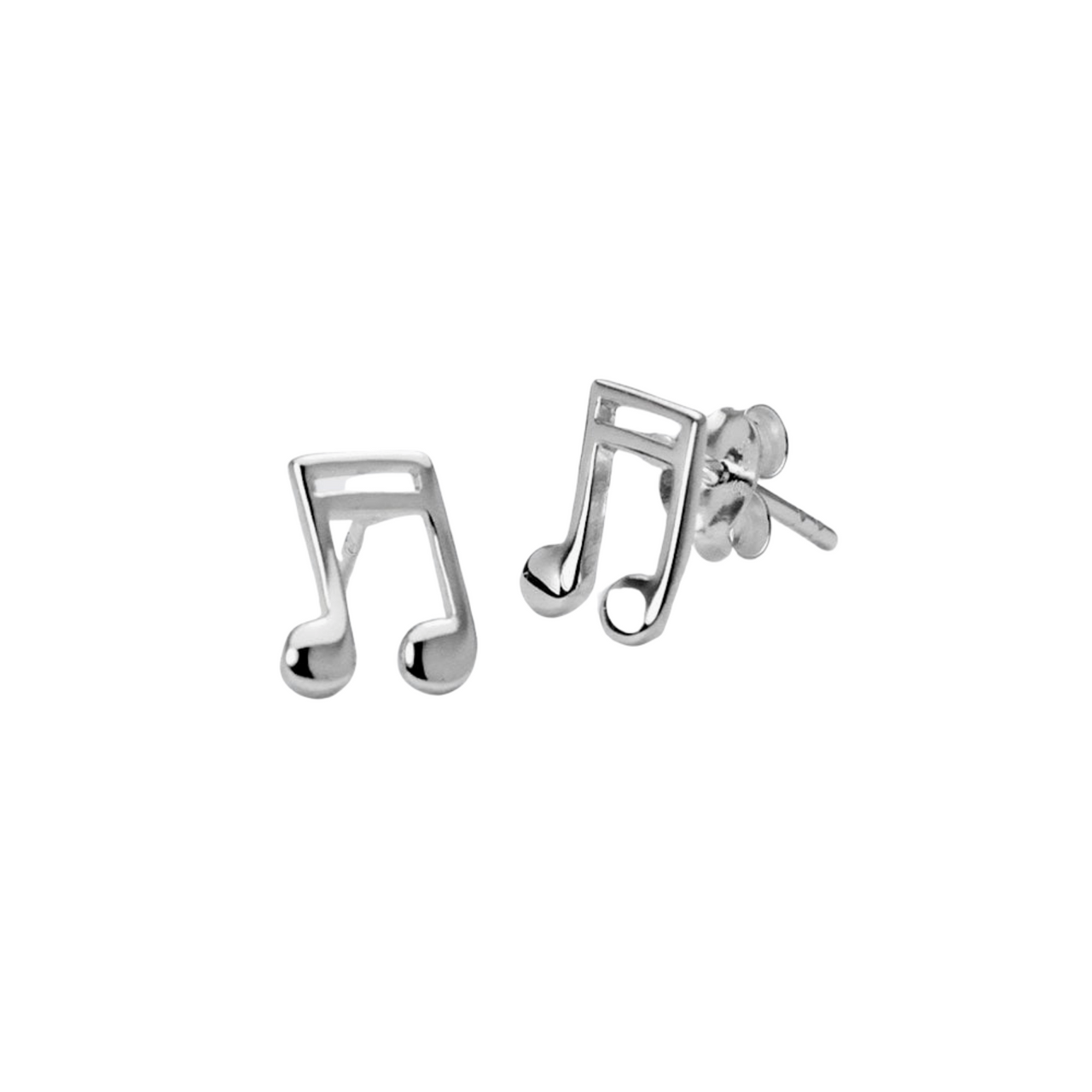 Sterling Silver Musical Note Studs