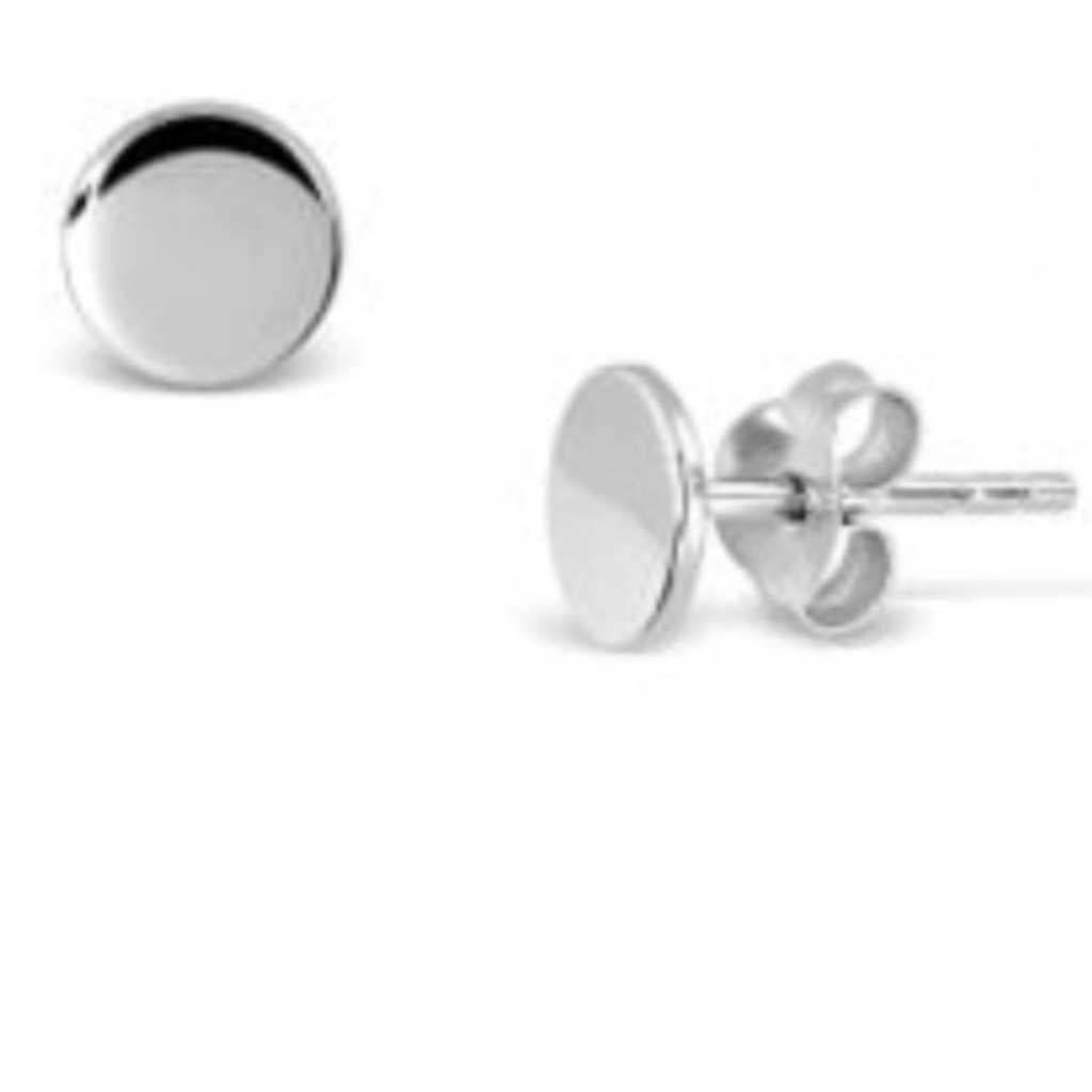 Sterling Silver high polished solid circle studs.
