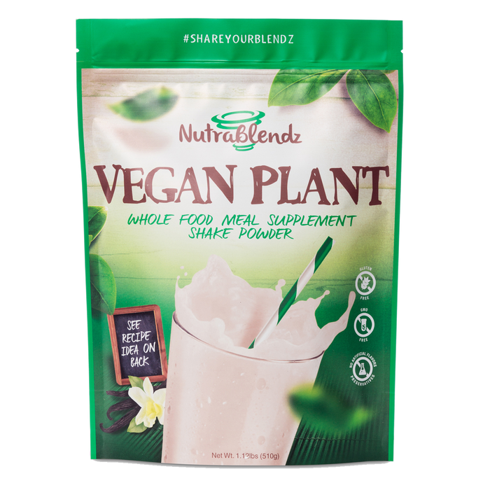 VEGAN Protein Meal Replacement Shake. No Gluten. Natural & Delicious