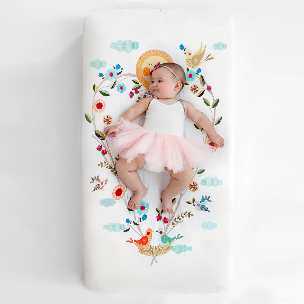 Rookie Humans Love Blooms Standard Size Crib Sheet