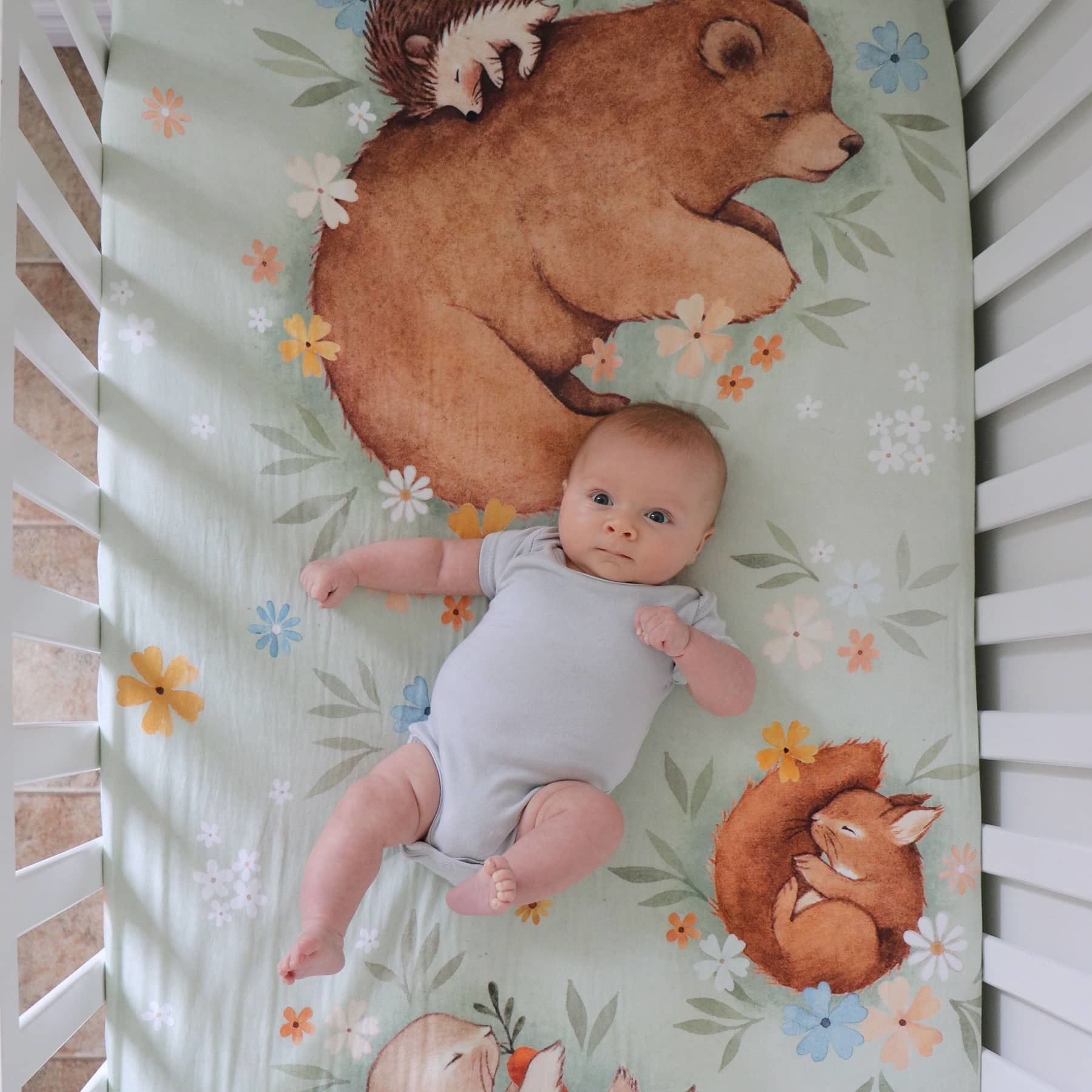 Rookie Humans Enchanted Meadow Standard Size Crib Sheet