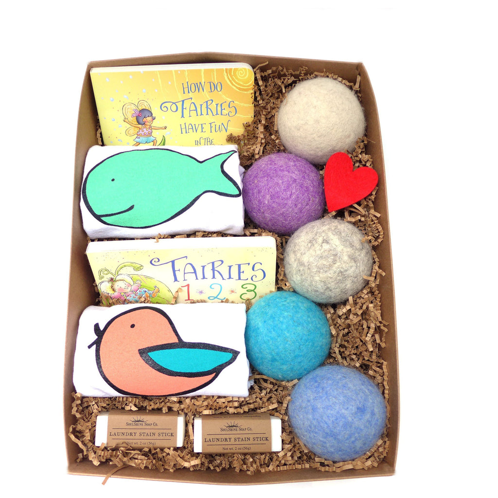 LooHoo Wool Dryer Balls Gift Box - SUPER Mama