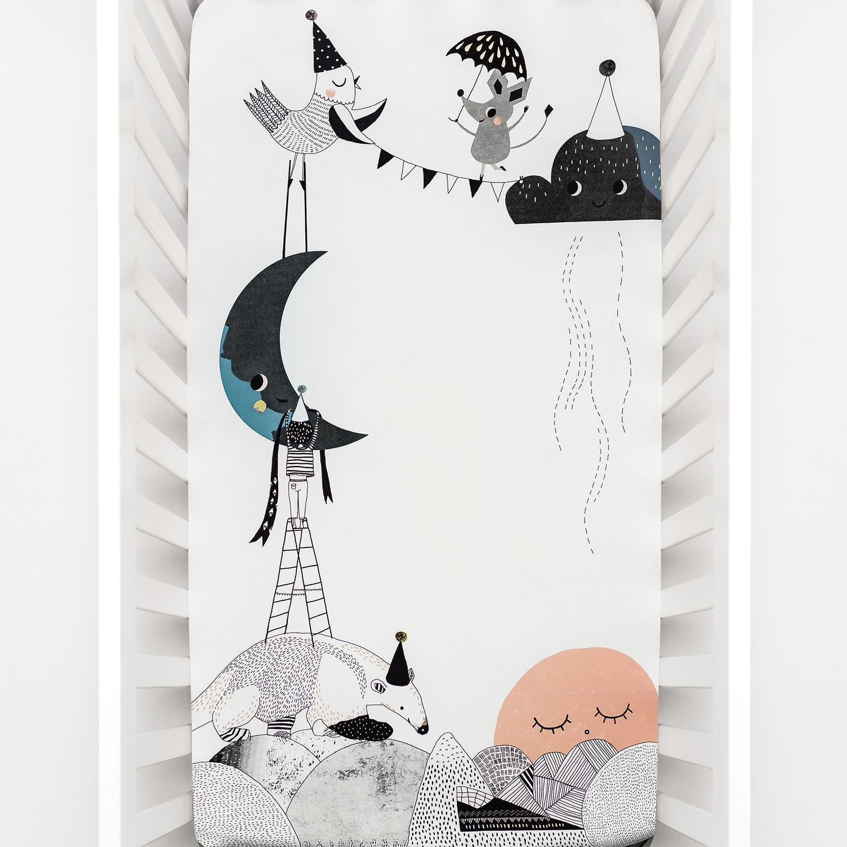 Rookie Humans The Moon's Birthday Standard Size Crib Sheet