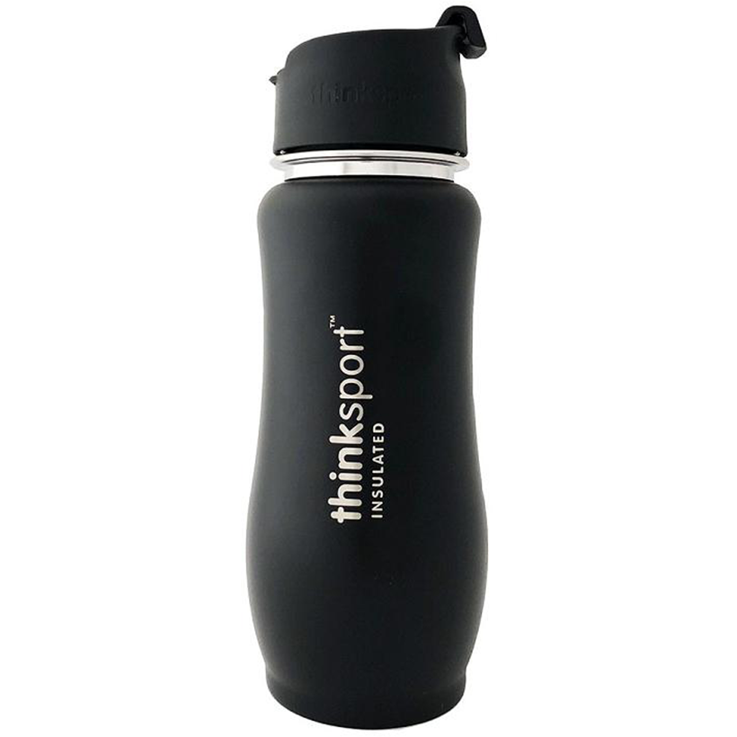 Thinksport Insulated Bottle with Coffee Top - 12oz (350ml) - Black