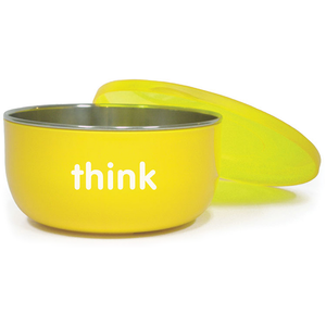 Thinkbaby BPA Free Cereal / Soup Bowl - Yellow