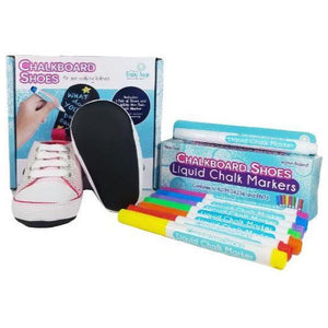 Baby Says Pink Sneakers and 8-pack Marker Set