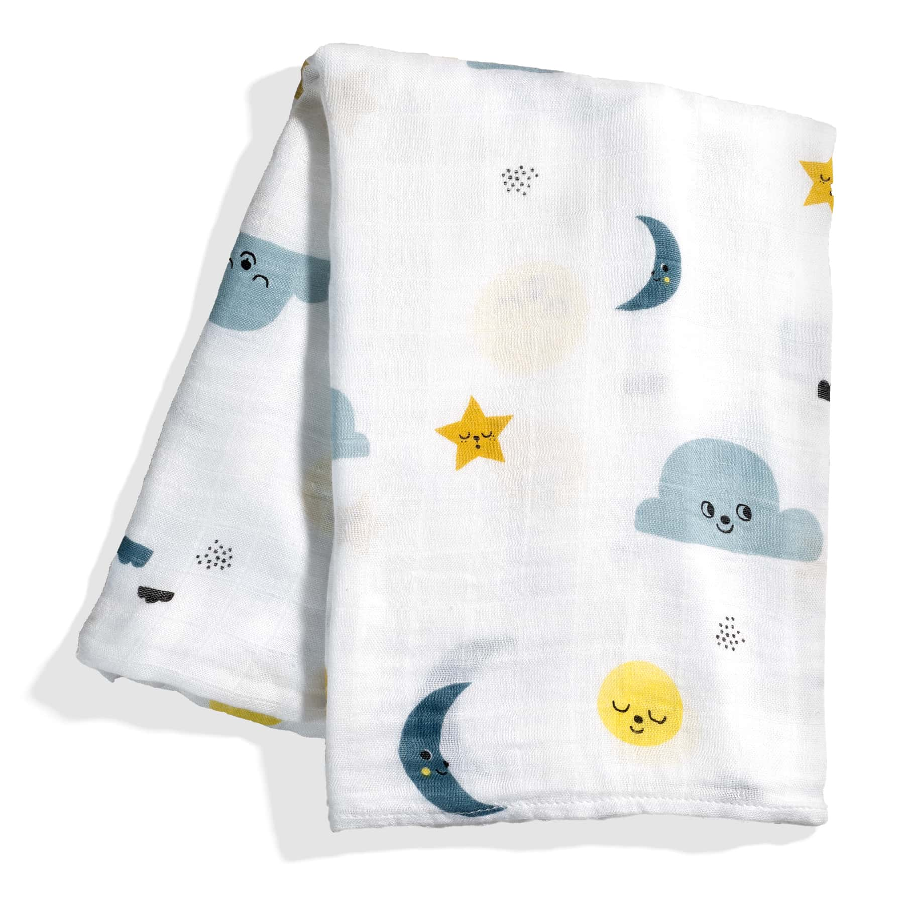 Rookie Humans Crib Sheet and Swaddle Bundle - Moon's Birthday