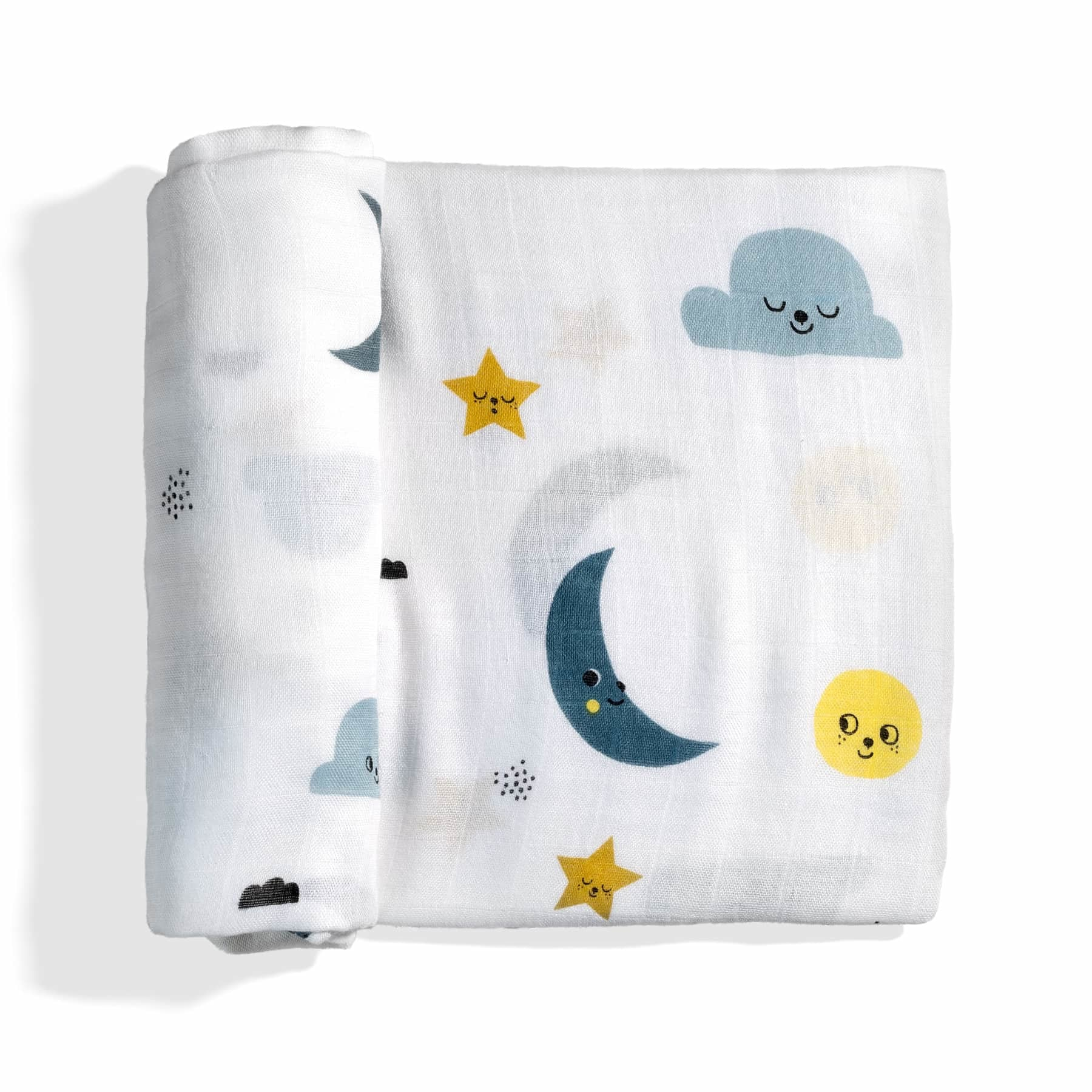 Rookie Humans Moon and Stars Bamboo Swaddle