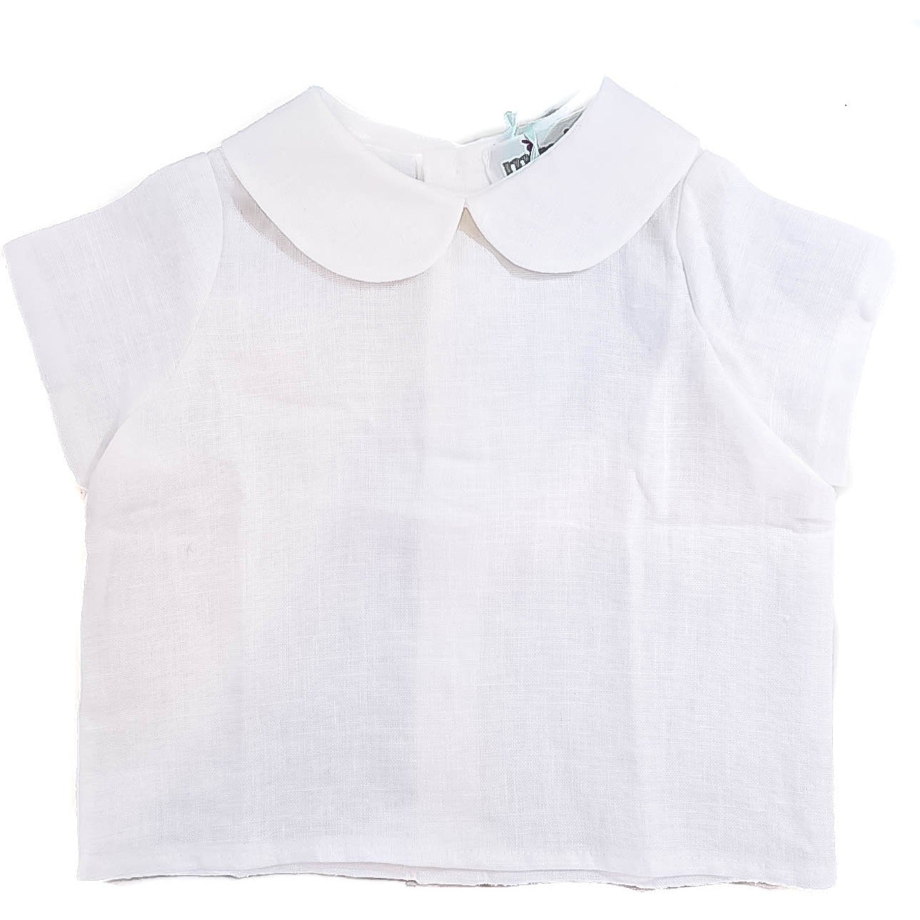 Gabri Isle White Peter Pan Collar Top