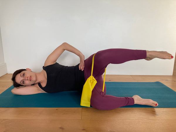 Pilates glutes side lying with resistance band