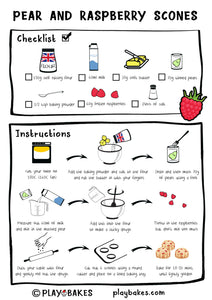 illustrated scone recipe for kids