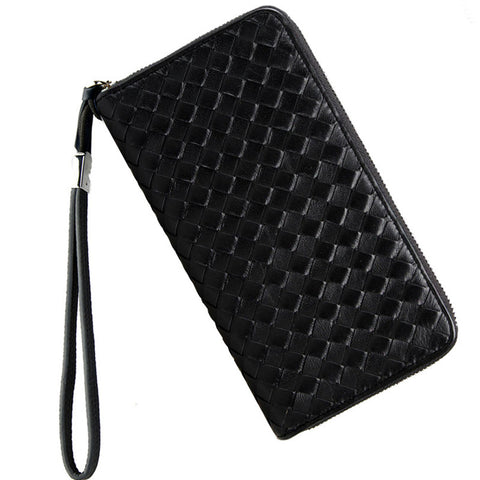 Luxury Brand Men Genuine Leather Wallet Top Plaid Leathe