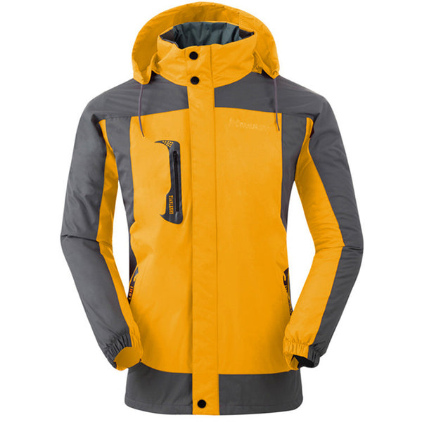 Fleece Warm Jacket Men Breathable Windbreak Hooded Jacket