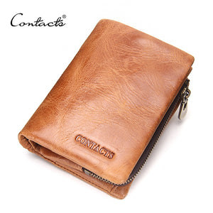 Men Wallet Genuine Leather Coin Pures and Card Holder Short Wallets 3 Color