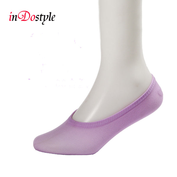 10 pairs candy color brand Anti-Slip breathable female ankle socks silicone invisible boat socks - All2Wear.com