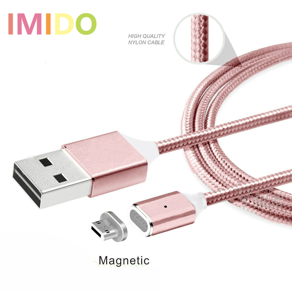 2.4A Micro USB Charging Cable High Speed Magnetic Adapter For iphone 5/6/7 For Samsung Android 3 Colo
