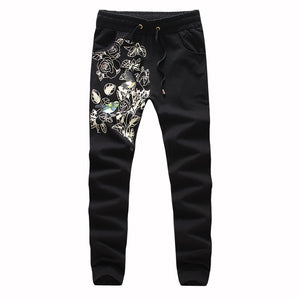 Fashion Men Sweatpants Casual Autumn Male Printed Drawstring Pocket Trousers For Male,Plus Size 5XL