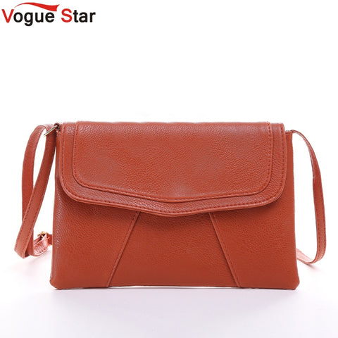 Vogue Star New Fashion Women Envelope Bag PU Leather Messenger bag Handbag Shoulder Crossbody Bag Purses clutch Bolsas  LS319