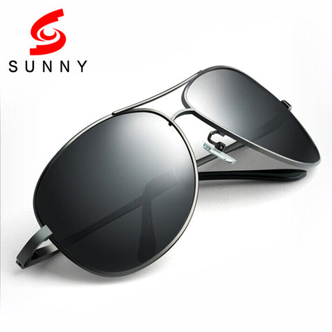 High Quality Oversized Sunglasses Men Polarized Drive Sun Glasses Big Polaroid Male Anti UV400 Protect Anti-Reflective 215