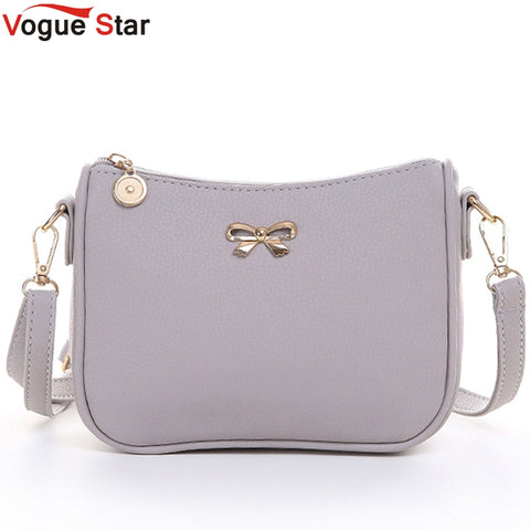 Vogue Star Vintage cute bow small handbag women clutch ladies mobile purse famous brand shoulder messenger crossbody bags LS463