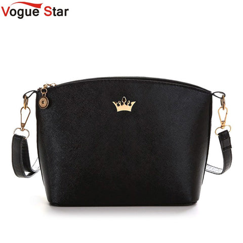 Vogue Star 2017 Hot Sold Mini Women Messenger Bags Shell Shaped Cross Pattern Good Quality Women Bag With Imperial Crown  LS358