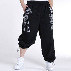 2017 Casual Mens Joggers Printed Baggy Fashion Hip Hop male Jogger Pants open air Sweatpants Men Trousers Pantalon Homme 5XL A10
