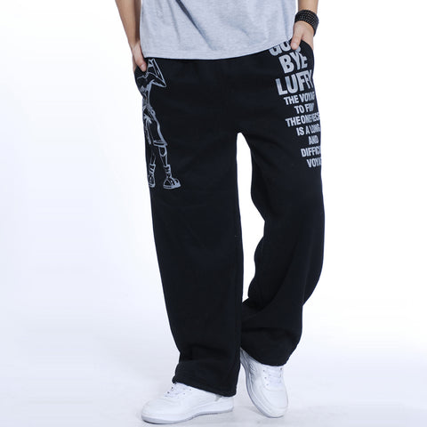 2017 Fashion Mens Joggers Letter Printed male Baggy Hip Hop Jogger Pants open air Sweatpants Men Trousers Pantalon Homme 5XL A52