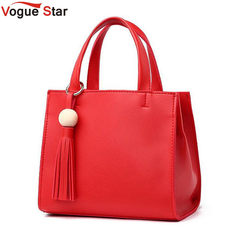 Vogue Star 2017 Fashion Women Bags Casual Tote Handbags For Women PU Leather Tote Bags Female Messenger bag LS585